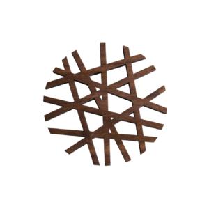 Dessous de plat en bois design rond