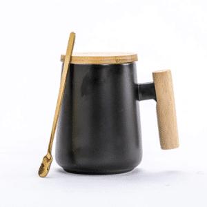 tasse en bois et ceramique thé