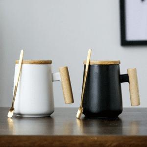tasse a thé bois